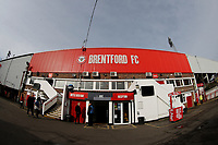 8th February 2020; Griffin Park, London, England; English Championship Football, Brentford FC versus Middlesbrough; General view the main entrance to Griffin Park