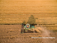 63801-11516 Combine harvesting wheat-aerial Marion Co.  IL