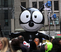 NEW YORK, NY - NOVEMBER 21: Felix the Cat parade float at NBC's Today Show for a preview of the 2016 Macy's Thanksgiving Parade in New York City.November 21, 2016. Credit: RW/MediaPunch