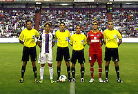 Real Valladolid´s Alvaro Rubio and Getafe's  Rafa Lopez captains during La Liga match.August 31,2013. (ALTERPHOTOS/Victor Blanco)