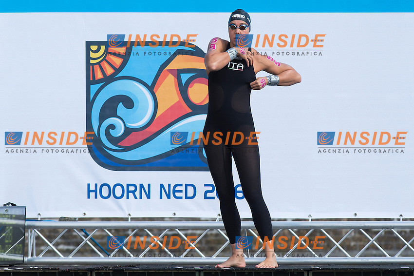 PONSELE' Aurora ITA<br /> Hoorn, Netherlands <br /> LEN 2016 European Open Water Swimming Championships <br /> Open Water Swimming<br /> Women's 5km<br /> Day 02 12-07-2016<br /> Photo Giorgio Perottino/Deepbluemedia/Insidefoto
