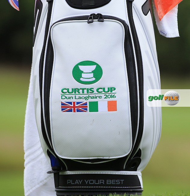 Bag front close-up during the Sunday Singles at the 2016 Curtis Cup, played at Dun Laoghaire GC, Enniskerry, Co Wicklow, Ireland. 12/06/2016. Picture: David Lloyd | Golffile. <br /> <br /> All photo usage must display a mandatory copyright credit to &copy; Golffile | David Lloyd.