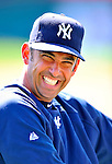 8 March 2011: New York Yankees' catcher Jorge Posada stretches out prior to a Spring Training game against the Atlanta Braves at Champion Park in Orlando, Florida. The Yankees edged out the Braves 5-4 in Grapefruit League action. Mandatory Credit: Ed Wolfstein Photo