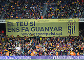 "9th September 2017, Camp Nou, Barcelona, Spain; La Liga football, Barcelona versus Espanyol; A Catalan banner ""If you vote yes we'll win"""