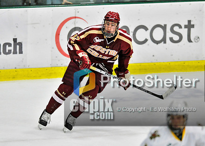 10 February 2012: Boston College Eagles forward Kevin Hayes, a Sophomore from Dorchester, MA, in action against the University of Vermont Catamounts at Gutterson Fieldhouse in Burlington, Vermont. The Eagles defeated the Catamounts 6-1 in their Hockey East matchup. Mandatory Credit: Ed Wolfstein Photo