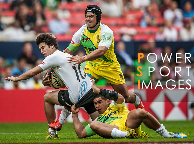 Cook Islands vs Uruguay during the Cathay Pacific / HSBC Hong Kong Sevens at the Hong Kong Stadium on 28 March 2014 in Hong Kong, China. Photo by Juan Flor / Power Sport Images