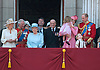 17.06.2017; London, UK: PRINCESS CHARLOTTE AND PRINCE GEORGE <br /> joined other members of the royal family for Trooping The Colour to celebrate the Queen&rsquo;s 91st Official Birthday<br /> Royals present included the Duke of Edinburgh, Prince Charles and Camilla, Duchess of Cornwall, Prince William, Kate Middleton, Prince George; Princess Charlotte; Prince Harry, Prince Andrew; Princess Beatrice, Princess Eugenie, Prince Edward, Sophie Wessex, Viscount Severn, Lady Louise Mountbatten-Windsor, Princess Anne, Zara Phillips &amp; Mike Tindal, Prince and Princess Michael Of Kent, Lady Helen Taylor, Duke of Kent, Duke of Gloucester and Duchess of Gloucester,Peter Phillips and Autumn and Lady Amelia Windsor.<br /> Mandatory Credit Photo: &copy;Francis Dias/NEWSPIX INTERNATIONAL<br /> <br /> IMMEDIATE CONFIRMATION OF USAGE REQUIRED:<br /> Newspix International, 31 Chinnery Hill, Bishop's Stortford, ENGLAND CM23 3PS<br /> Tel:+441279 324672  ; Fax: +441279656877<br /> Mobile:  07775681153<br /> e-mail: info@newspixinternational.co.uk<br /> Usage Implies Acceptance of OUr Terms &amp; Conditions<br /> Please refer to usage terms. All Fees Payable To Newspix International