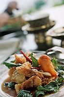 "Thaïlande/Bangkok: Barracuda sauce tamarin - recette du restaurant ""Sala Rim Naam"" de l'hotel ""Oriental"""
