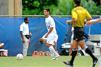 2 October 2011:  FIU midfielder/forward Christopher Garces (21) looks to pass the ball in the first half as the FIU Golden Panthers defeated the University of Kentucky Wildcats, 1-0 in overtime, at University Park Stadium in Miami, Florida.