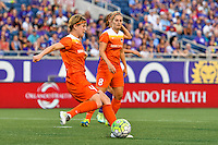 Orlando, FL - Thursday June 23, 2016: Rebecca Moros during a regular season National Women's Soccer League (NWSL) match between the Orlando Pride and the Houston Dash at Camping World Stadium.