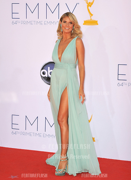 Heidi Klum at the 64th Primetime Emmy Awards at the Nokia Theatre LA Live..September 23, 2012  Los Angeles, CA.Picture: Paul Smith / Featureflash