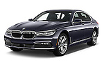 2017 BMW 7 Series 740i 4 Door Sedan Angular Front stock photos of front three quarter view