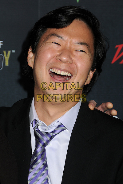 Ken Jeong.Variety's 2nd Annual Power of Comedy Event held at the Hollywood Palladium, Hollywood, California, USA, .19th November 2011..portrait headshot mouth open funny  black laughing suit tie purple .CAP/ADM/BP.©Byron Purvis/AdMedia/Capital Pictures.