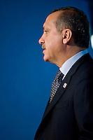 Rome,Italy, November 17, 2009. Il Primo Ministro Turco Recep Tayyip Erdogan durante il suo intervento alla Fao in occasione di un summit mondiale sul cibo.<br /> Turkish Prime Minister Recep Tayyip Erdogan during his speech on the occasion of the World Summit on food Security at Fao (Food and Agriculture Organization of the United Nations) in Rome.