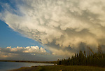 Storm over Lake Yellowstone