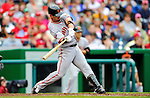 1 May 2011: San Francisco Giants outfielder Aaron Rowand in action against the Washington Nationals at Nationals Park in Washington, District of Columbia. The Nationals defeated the Giants 5-2. Mandatory Credit: Ed Wolfstein Photo