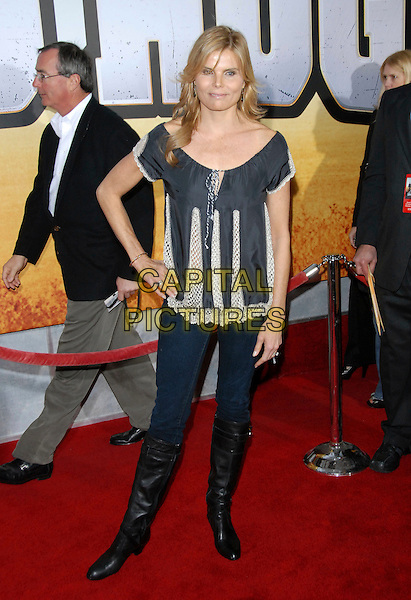 "MARIEL HEMMINGWAY.attends The Touchstone Pictures' World Premiere of ""Wild Hogs"" held at The El Capitan Theatre in Hollywood, California, USA, February 27 2007. .full length hand on hip.CAP/DVS .©Debbie VanStory/Capital Pictures"