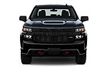 Car photography straight front view of a 2019 Chevrolet Silverado 1500 Custom Trail Boss 4 Door Pick Up