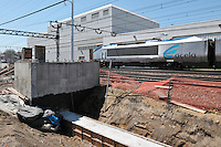 Southbound Amtrak Acela, Trench and Platform Footings. Additional View taken during Construction Progress Photography of the Railroad Station at Fairfield Metro Center - Site visit 10 of once per month Chronological Documentation.