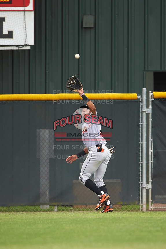 Jupiter Hammerheads right fielder John Norwood (22) during a game against the Lakeland Flying Tigers on April 14, 2016 at Henley Field in Lakeland, Florida.  Lakeland defeated Jupiter 5-0.  (Mike Janes/Four Seam Images)
