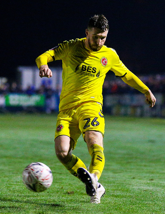 Fleetwood Town's James Husband<br /> <br /> Photographer Alex Dodd/CameraSport<br /> <br /> The Emirates FA Cup Second Round - Guiseley v Fleetwood Town - Monday 3rd December 2018 - Nethermoor Park - Guiseley<br />  <br /> World Copyright © 2018 CameraSport. All rights reserved. 43 Linden Ave. Countesthorpe. Leicester. England. LE8 5PG - Tel: +44 (0) 116 277 4147 - admin@camerasport.com - www.camerasport.com