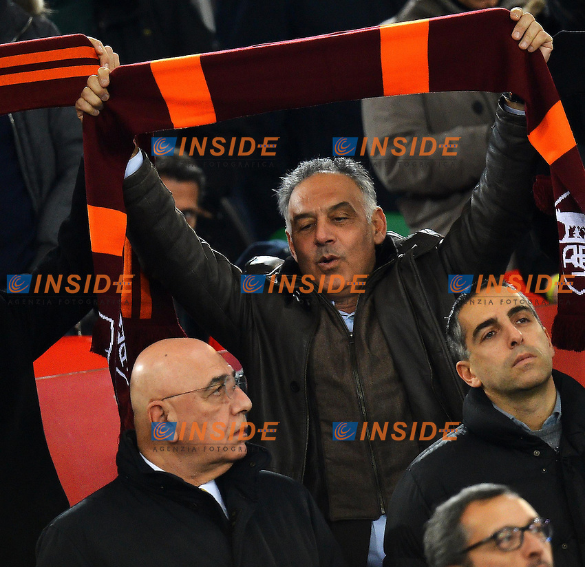 James Pallotta Presidente As Roma e Adriano Galliani .Roma 22/12/2012 Stadio Olimpico.Football Calcio 2012/2013 Serie A.Roma Vs Milan.Foto Andrea Staccioli Insidefoto