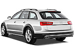 Rear three quarter view of a 2013 Audi A6 Allroad Quattro Wagon
