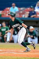 Dartmouth Big Green outfielder Bo Patterson (33) during a game against the University of Alabama at Birmingham Blazers at Chain of Lakes Stadium on March 17, 2013 in Winter Haven, Florida.  Dartmouth defeated UAB 4-0.  (Mike Janes/Four Seam Images)