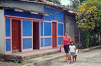 Street scene in Moyogalpa, Isla de Ometepe, Nicaragua