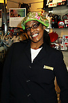 """Monique works at the NY Marriott on Jane Elissa's many Hats for Health on September 10, 2010 at the New York Marriott Marquis, New York, New York as Daytime's TV and  Broadway stars get involved in helping launch Jane Elissa's """"Hats For Health"""" to promote awareness and to raise money for Leukemia and cancer research.   (Photo by Sue Coflin/Max Photos)"""