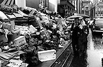 """Winter of Discontent"" London. Rubbish piles up in the streets of the west end London. Bin men strike 1978."