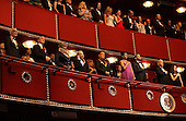 Washington, DC - December 6, 2009 -- United States President Barack Obama and first lady Michelle Obama join the 2009 Kennedy Center Honorees in the president's box at the John F. Kennedy Center for the Performing Arts in Washington, DC on Sunday, December 6, 2009 for the taping of the 2009 Kennedy Center Honors tribute program to be aired December 29th. Shown with the president and first lady are (l-r) Dave Brubeck, Robert DeNiro, Grace Bumbry, Mel Brooks, and Bruce Springsteen. At right are Vice President Joe Biden and granddaughter Ashley Biden..Credit: Martin H. Simon / Pool via CNP