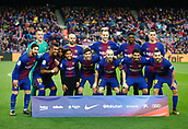 7th January 2018, Camp Nou, Barcelona, Spain; La Liga football, Barcelona versus Levante; FC Barcelona team line-up