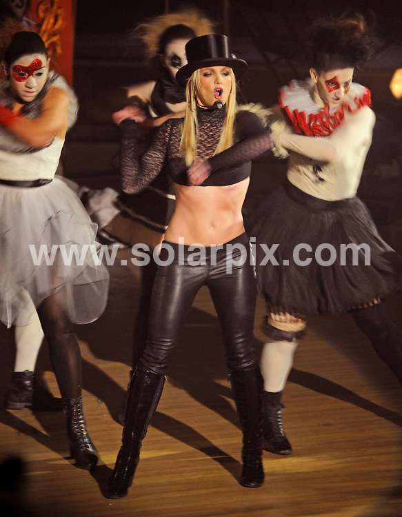 **ALL ROUND PICTURES FROM SOLARPIX.COM**.**SYNDICATION RIGHTS FOR UK, SPAIN, PORTUGAL, AUSTRALIA, S.AFRICA & DUBAI (U.A.E) ONLY**.Britney Spears sent US fans into a rage as she refused once again to perform her new single Womanizer live, sparking an angry internet backlash. Britney performed a Circus Show on ABC's Good Morning America for Her Birthday on December 2, 2008  called Big Apple Circus at Lincoln Center, New York City, NY, USA.JOB REF:  6068   PHZ    DATE:  02.12.08.**MUST CREDIT SOLARPIX.COM OR DOUBLE FEE WILL BE CHARGED* *UNDER NO CIRCUMSTANCES IS THIS IMAGE TO BE REPRODUCED FOR ANY ONLINE EDITION WITHOUT PRIOR PERMISSION*