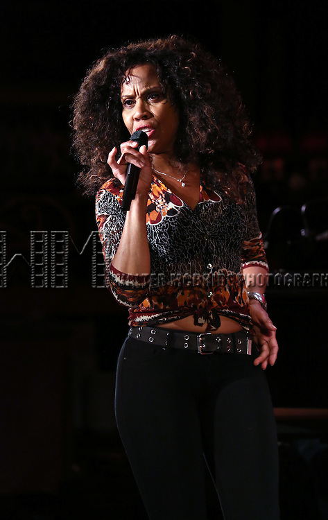 Cheryl Freeman performs a preview of 'Turn the Beat Around: 54 Below celebrates Studio 54'  at the 54 Below Press Preview at 54 Below on August 4, 2015 in New York City.
