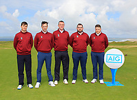Castletroy Team during the Munster Final of the AIG Barton Shield at Tralee Golf Club, Tralee, Co Kerry. 12/08/2017<br /> <br /> Andrew McCormack, Darragh Walsh, Liam McDonald (Captain), Jack Ryan and Dean McMahon.<br /> <br /> Picture: Golffile | Thos Caffrey<br /> <br /> All photo usage must carry mandatory copyright credit     (&copy; Golffile | Thos Caffrey)