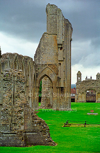 Ruins of the Abbey at Glastonbury England.