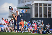 Sam Ryder (USA) watches his putt on 18 during round 4 of the Houston Open, Golf Club of Houston, Houston, Texas. 4/1/2018.<br /> Picture: Golffile | Ken Murray<br /> <br /> <br /> All photo usage must carry mandatory copyright credit (&copy; Golffile | Ken Murray)