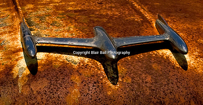 Old hood ornament in junkyard in Northwestern, TN.
