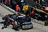 Noah Gragson, Kyle Busch Motorsports, Toyota Tundra Safelite, makes a pit stop
