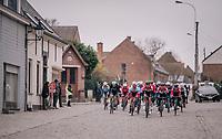 Frederik Frison (BEL/Lotto-Soudal) feeling comfortable on the cobbles<br /> <br /> 61th E3 Harelbeke (1.UWT)<br /> Harelbeke - Harelbeke (206km)