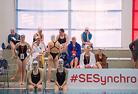 Picture by Allan McKenzie/SWpix.com - 25/11/2017 - Swimming - Swim England Synchronised Swimming National Age Group Championships 2017 - GL1 Leisure Centre, Gloucester, England - Competitors await their opportunity to perform.