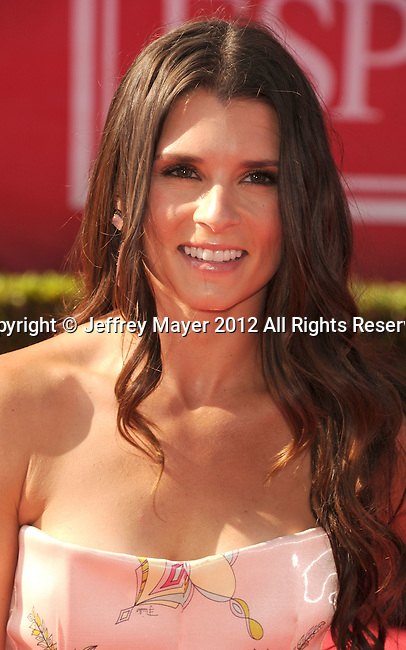 LOS ANGELES, CA - JULY 11: Danica Patrick arrives at the 2012 ESPY Awards at Nokia Theatre L.A. Live on July 11, 2012 in Los Angeles, California.