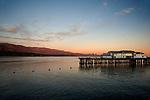 The Pier and coastline at Santa Barbara, CA