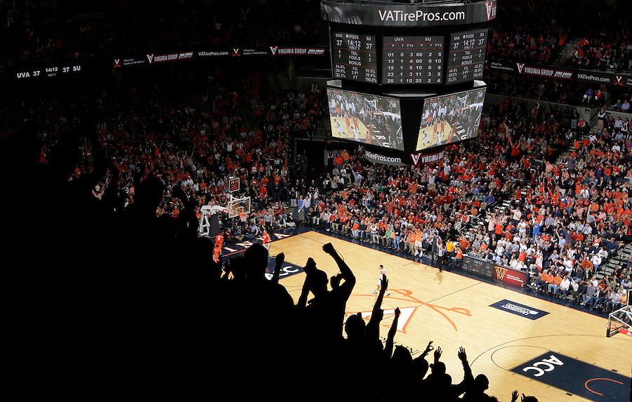 Virginia hosted Syracuse at the John Paul Jones Arena in an NCAA basketball game Saturday March 1, 2014 in Charlottesville, VA. Virginia defeated Syracuse 75-56.