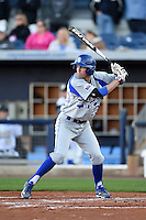 Indiana State Sycamores outfielder Landon Curry (23) at bat during a game against the Vanderbilt Commodores on February 20, 2015 at Charlotte Sports Park in Port Charlotte, Florida.  Vanderbilt defeated Indiana State 3-2.  (Mike Janes/Four Seam Images)