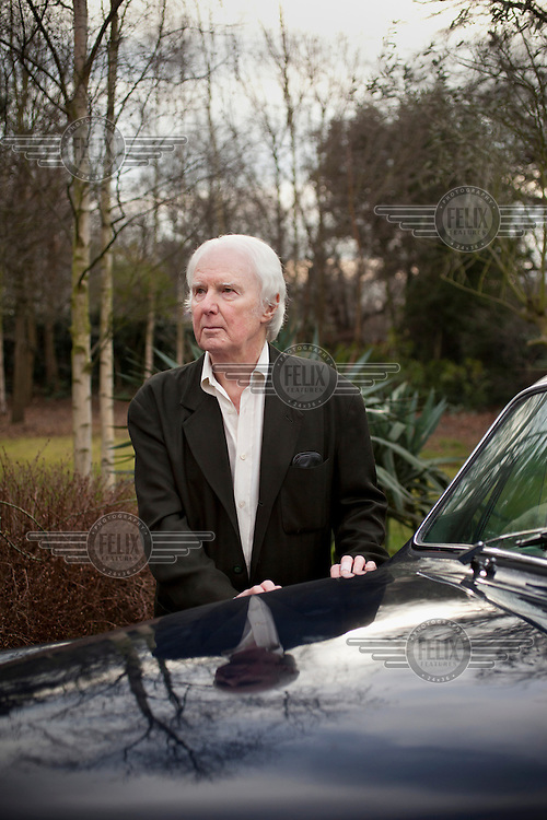 Art critic Brian Sewell at his home in Wimbledon, London.