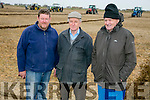 ARDFERT PLOUGHING MATCH on Dominic O Flaherty, Banna Land on Sunday  were l-r  Tom Leslie, Killarney Ploughing, Dominic O'Flaherty, Land Owner and Michael Leslie, Killarney Ploughing