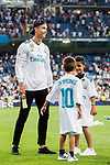 Cristiano Ronaldo of Real Madrid with his sons after their Supercopa de Espana Final 2nd Leg match between Real Madrid and FC Barcelona at the Estadio Santiago Bernabeu on 16 August 2017 in Madrid, Spain. Photo by Diego Gonzalez Souto / Power Sport Images