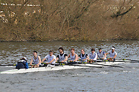 015 IM1.8+ Henley RC..Reading University Boat Club Head of the River 2012. Eights only. 4.6Km downstream on the Thames form Dreadnaught Reach and Pipers Island, Reading. Saturday 25 February 2012.